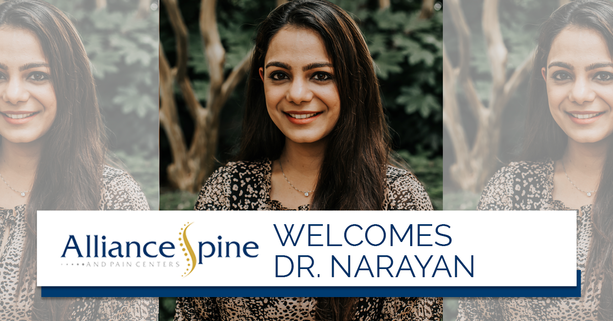 Please Join Alliance Spine and Pain Centers in Welcoming Dr. Preeti Narayan