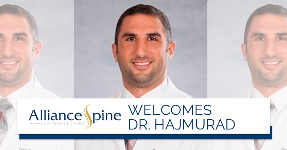 Alliance Spine and Pain Centers Welcomes Dr. Omar Hajmurad