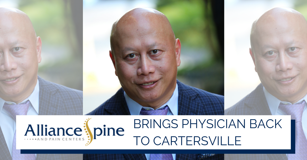 Alliance Spine and Pain Centers Brings Physician Back to Cartersville