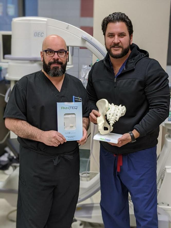 Dr. Rosenfeld with a colleague who performed the LinQ SI Joint Fusion treatment.