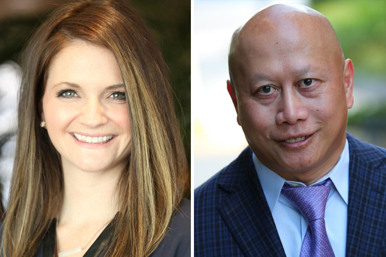 Headshots of Dr. Jordan Tate and Dr. Nok Keomahathai