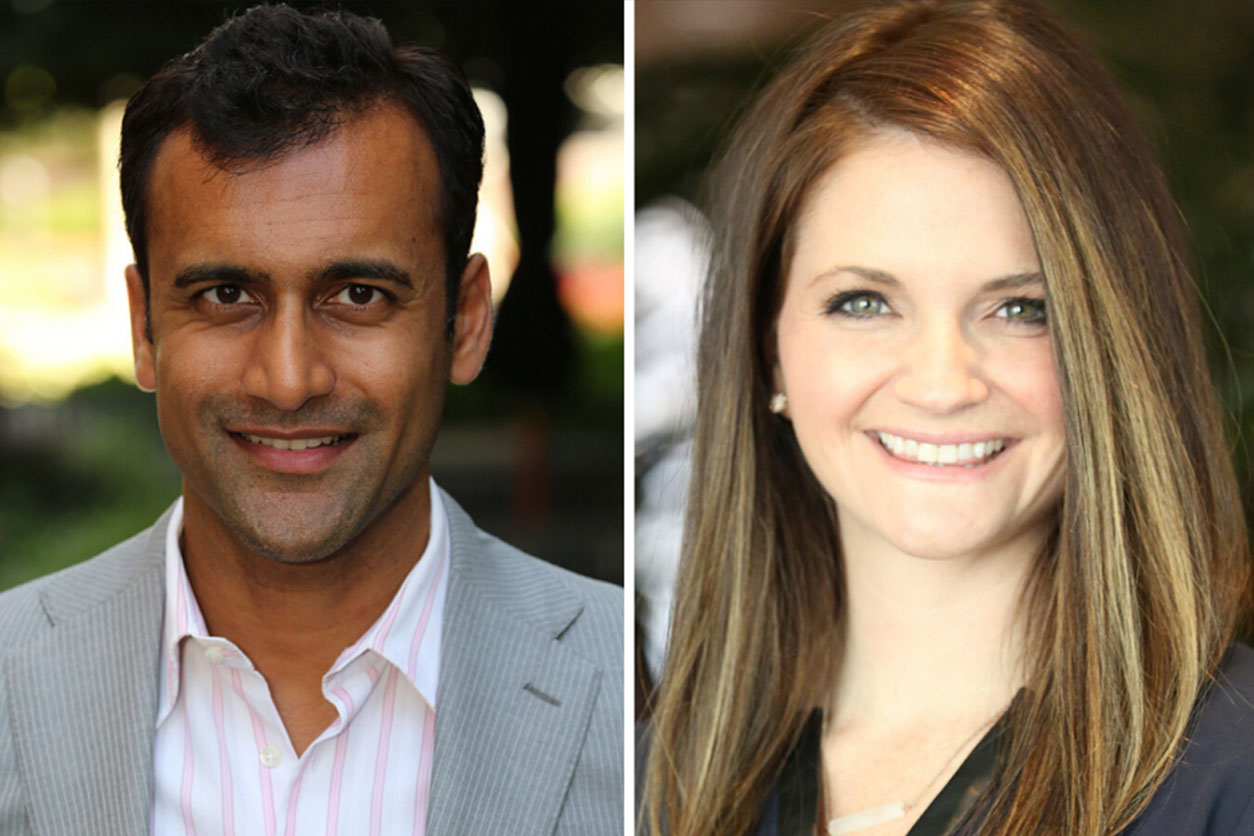 Headshots of Dr. Preetesh Patel and Dr. Jordan Tate.