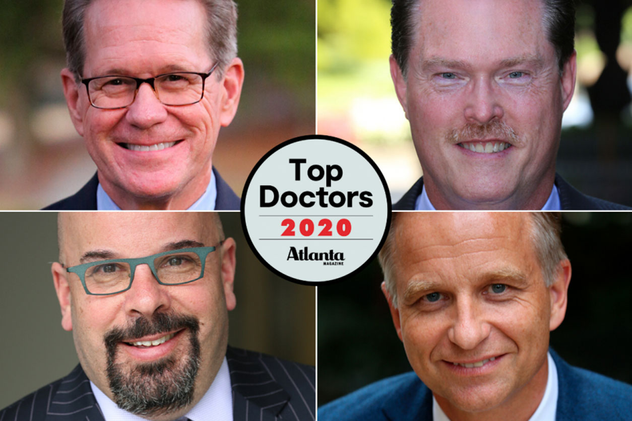 Headshots of the Alliance Spine and Pain Centers' doctors that received 2020 Top Docs honors.