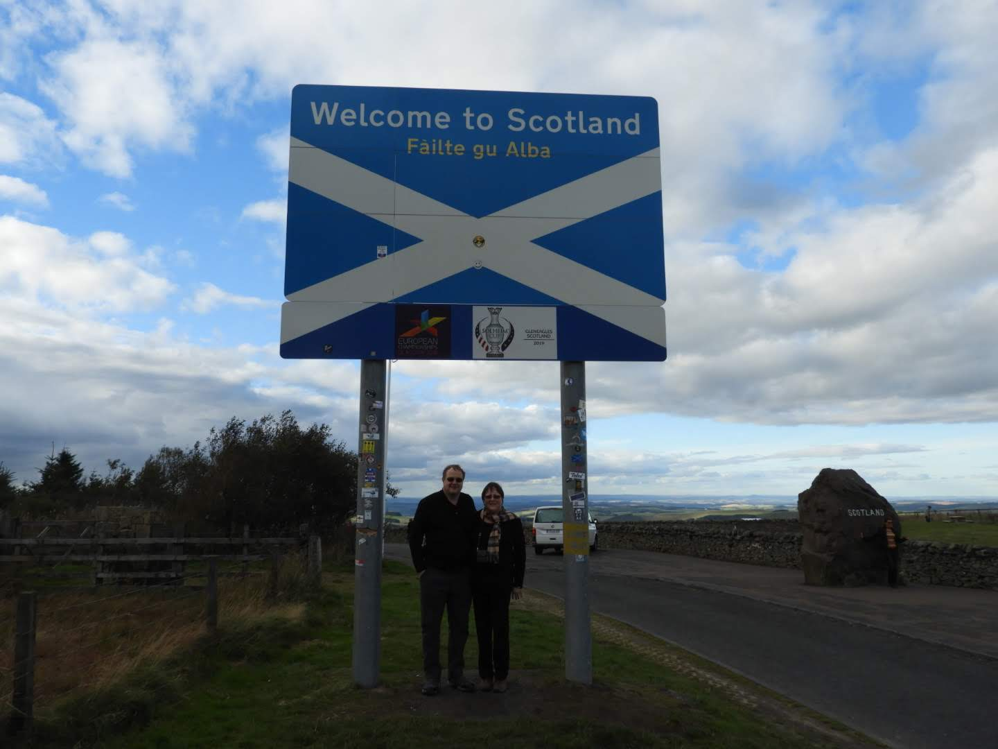 Dr. Stewart in Scotland with his wife.