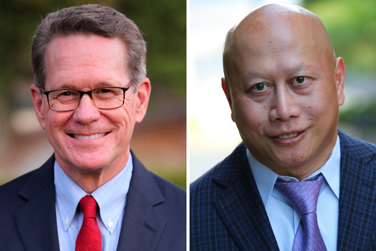 Headshots of Dr. Gale and Dr. Keomahathai