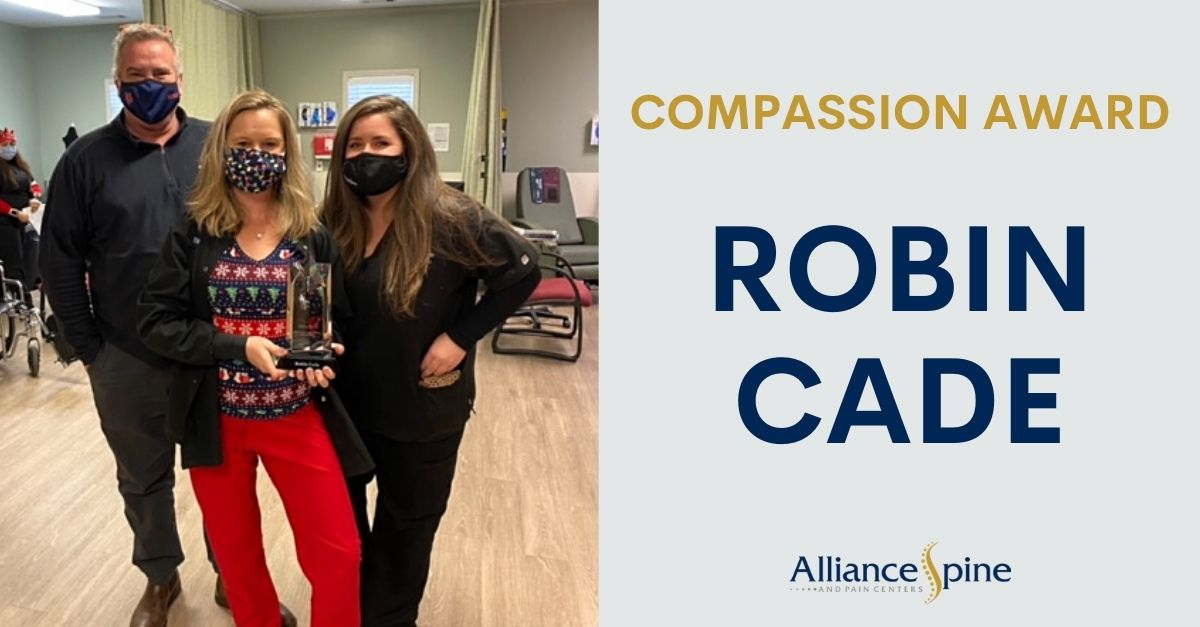 Photo of Alliance Staff Robin Cade with the Compassion Award