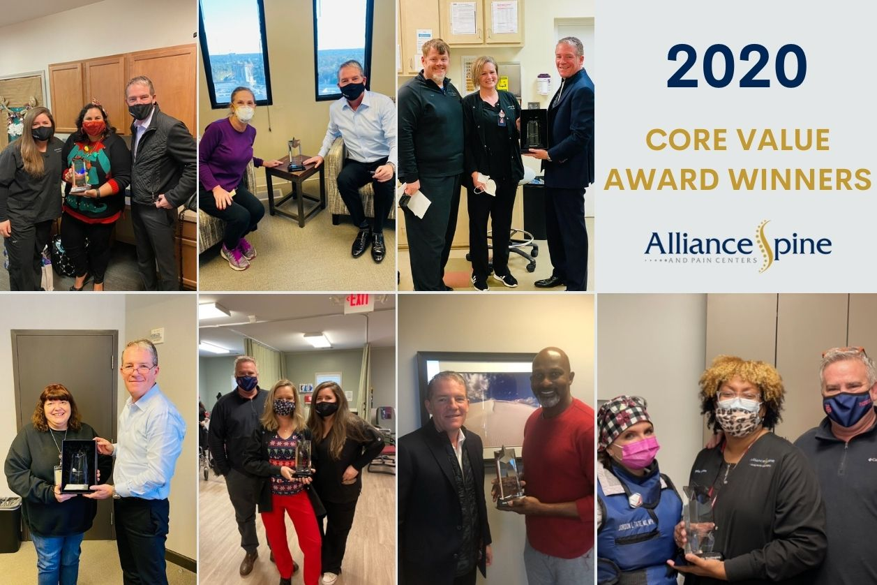 Photos of the winners for the Core Awards Alliance 2020