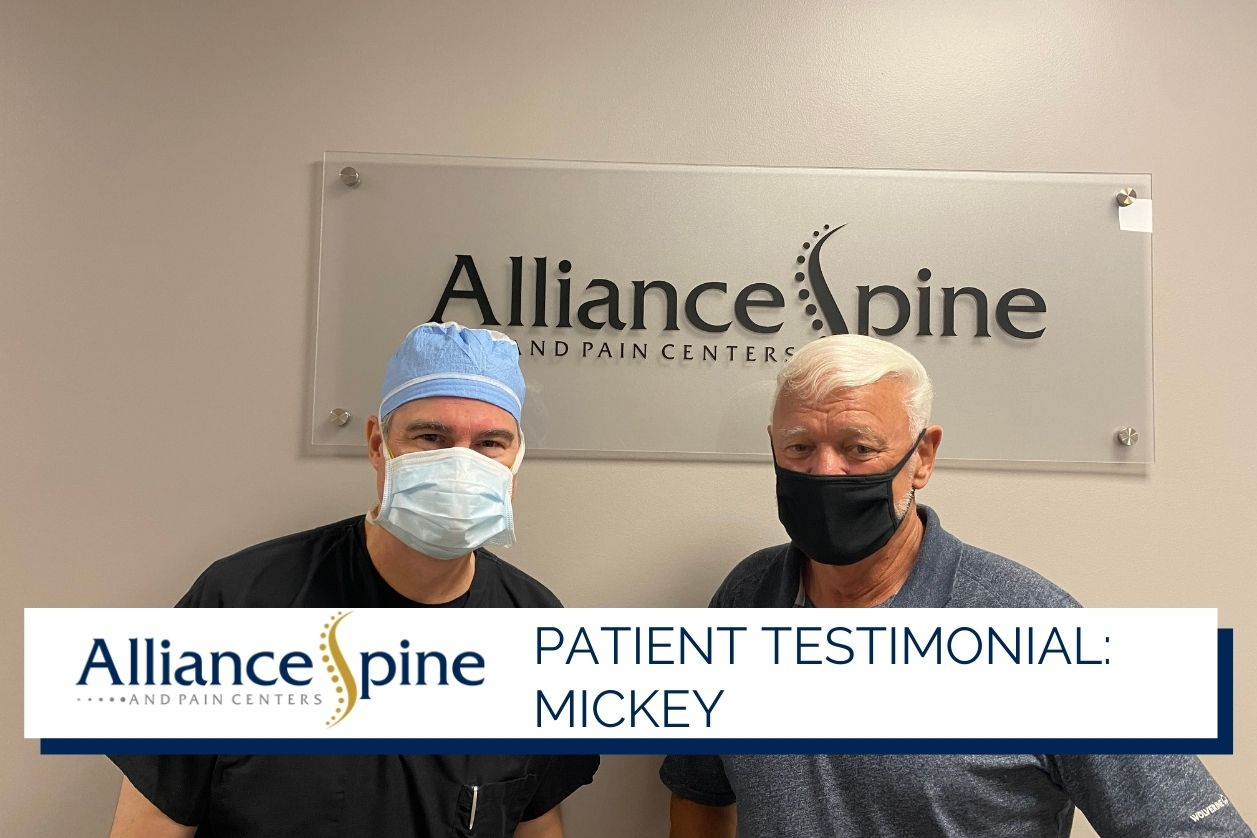 Patient Mickey with Dr. S. Christopher Cable,