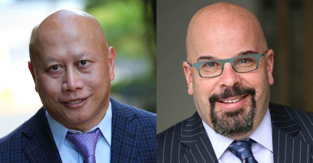 Photo collage of Dr. Nok Keomahathai on the left and Dr. David Rosenfeld on the right.