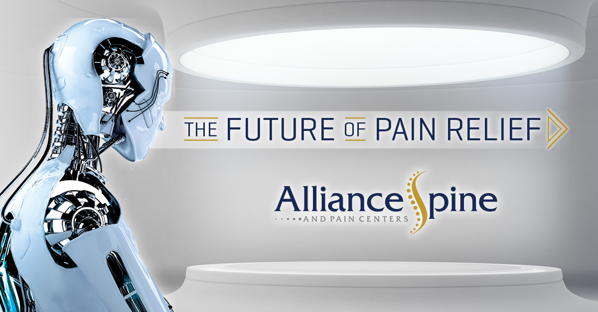 The Future of Pain Relief Alliance Spine and Pain Centers Robot graphic