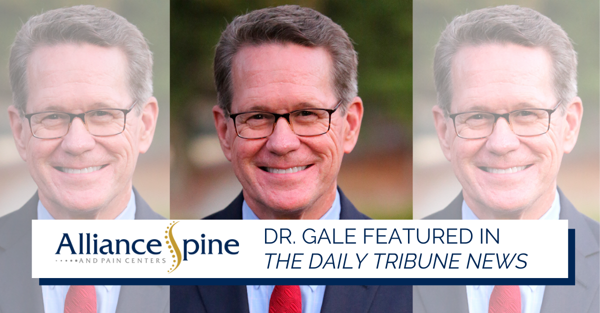 Dr. Gale (headshot) featured in The Daily Tribune News